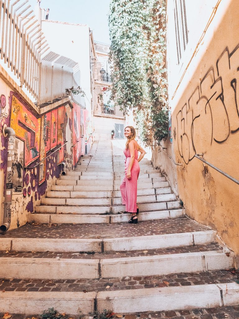 Colorful stairway in the Panier Marseille