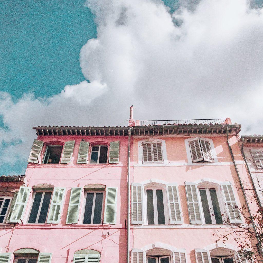 Pastel buildings in the Panier