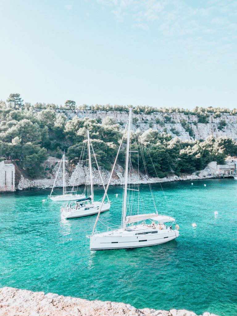 Taking a Calanque cruise, one of 10 Amazing things to do in Marseille.
