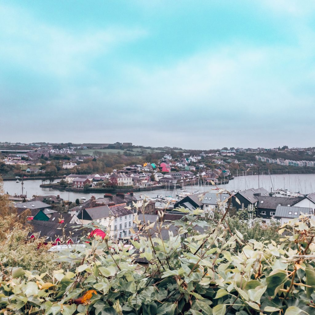 Visiting the town of Kinsale while traveling by bus in Ireland
