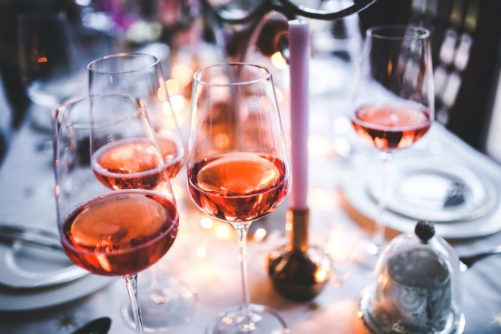 glasses of rose wine, an essential part of french lifestyle