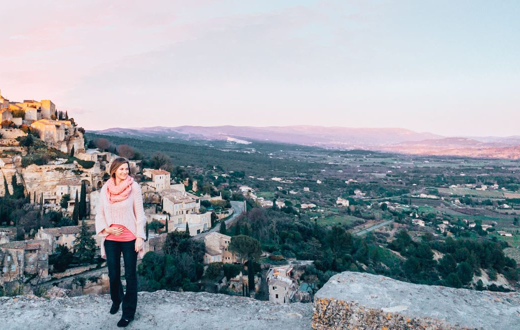 view of Gordes, one of the villages in the Luberon